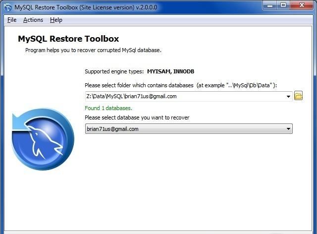 MySQL Restore Toolbox