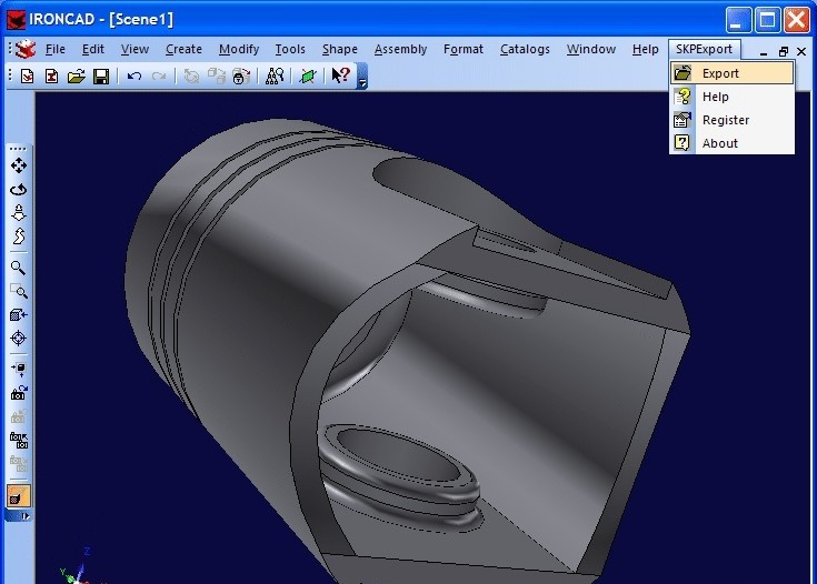 SKP Export for IRONCAD