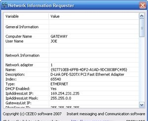 Network Info Requester
