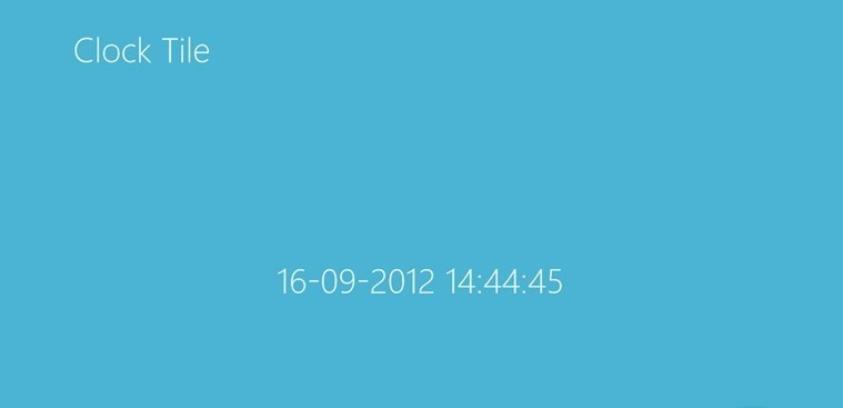 Clock Tile for Windows 8