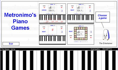Metronimos Piano Games typing software
