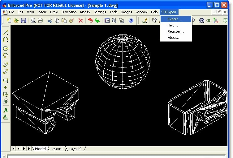 STL Export for Bricscad