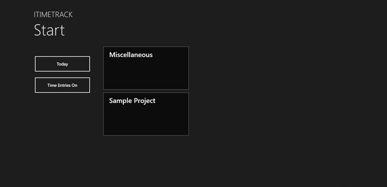 iTimeTrack for Windows 8
