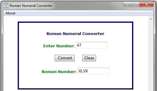 Roman Numeral Converter arrangement