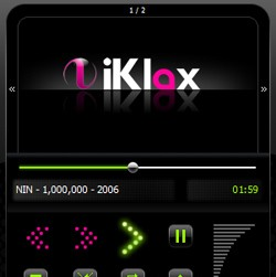 iKlax Player for Mac OS X arrangement