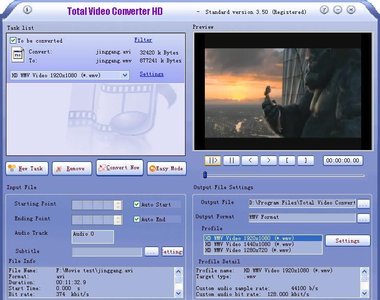 Total Video Converter HD 3.61 (100204) скачать бесплатно. Total Video