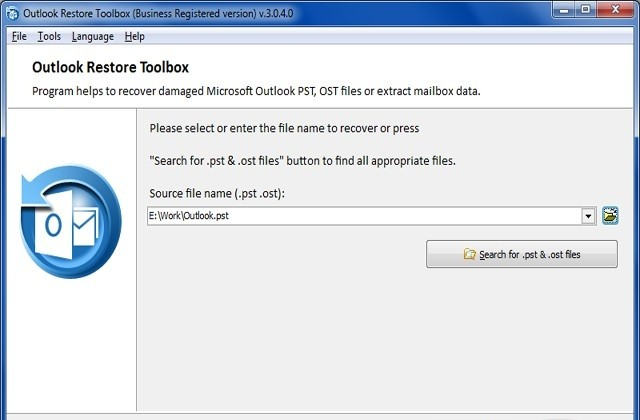 Outlook Restore Toolbox
