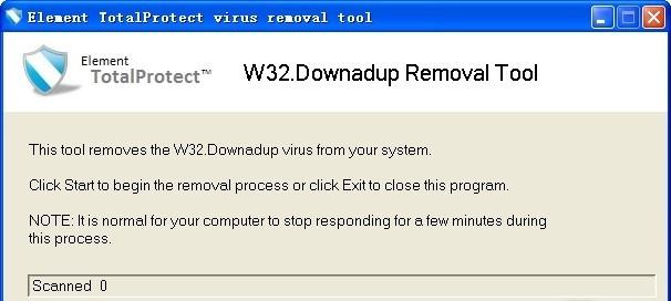 ايقونة برنامجW32.Downadup Removal Tool