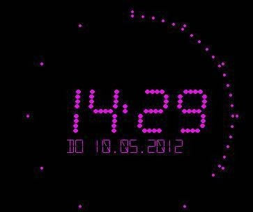 Flying Clock Screensaver