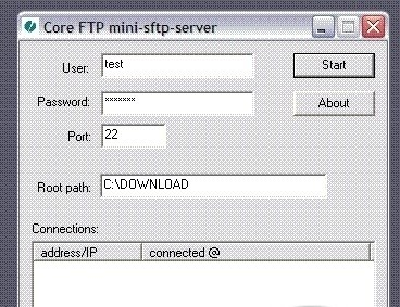 Скриншот к программе Core FTP Mini SFTP Server 1.28.