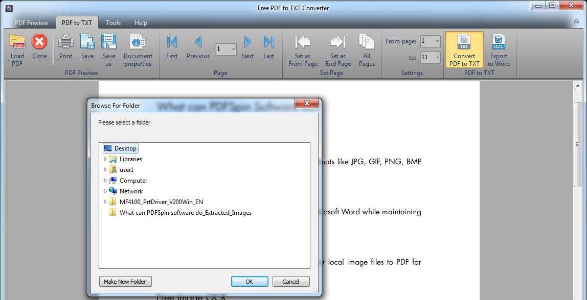 Free PDF to TXT Converter