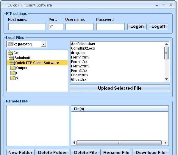 Quick FTP Client Software