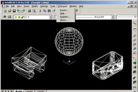 STL Export for IntelliCAD - STL Export is a Stereolithography STL file export plug-in for IntelliCAD.
