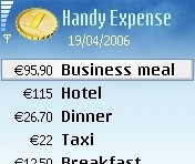 Handy Expense for Nokia 6630 softwere nokia 6630