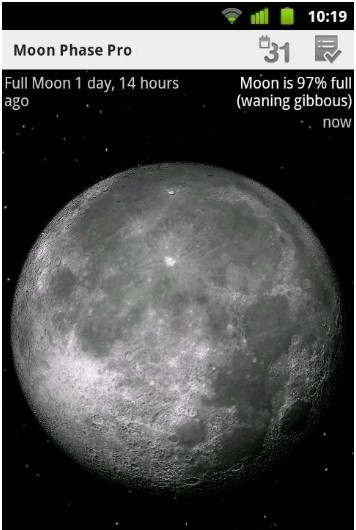 Moon Phase Pro for Android moon rise