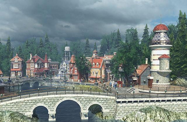 Заставка Sun Village 3D - поистине чудо: прекрасный вид и поверхность реки