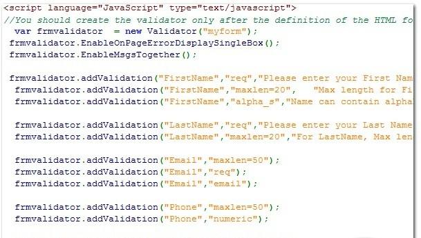 JavaScript Form Validator