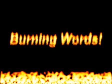 Burning Words Screensaver flame