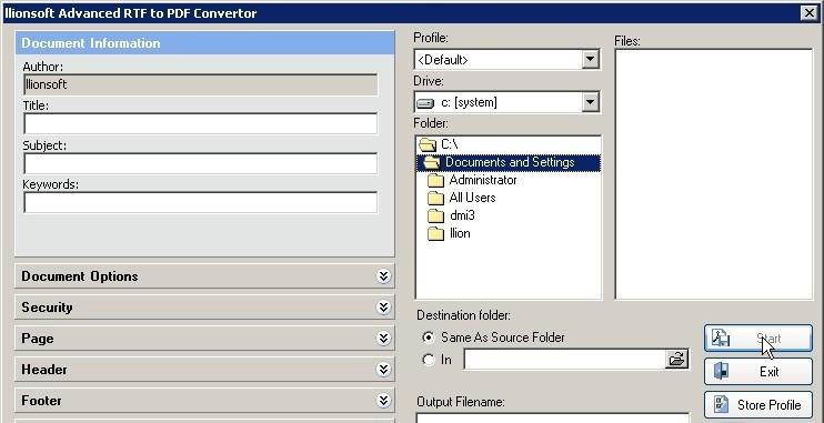 Advanced RTF2PDF Converter