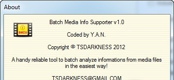 Batch Media Info Supporter