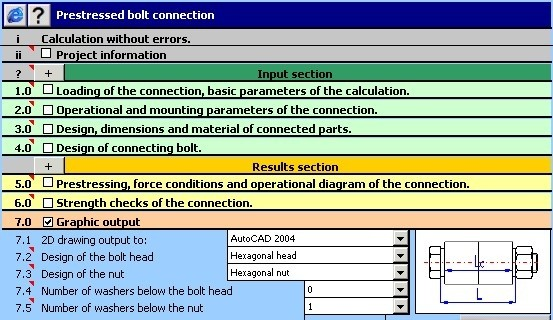 MITCalc - Bolted connection turbocad 15