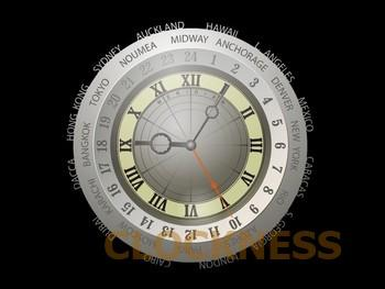 Meridian Clock Screensaver