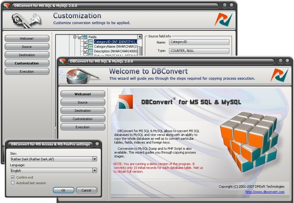 DBConvert for MS SQL & MySQL