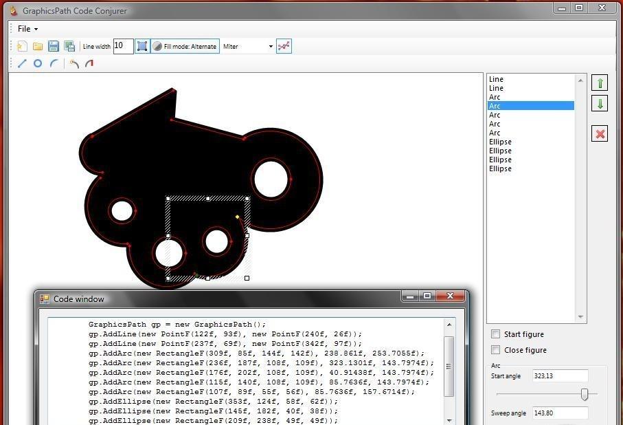 GraphicsPath Code Conjurer zip code look