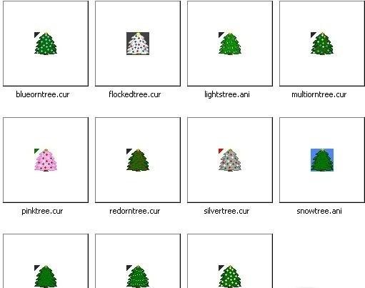 Christmas Trees Cursor Set warcraft iii cursor