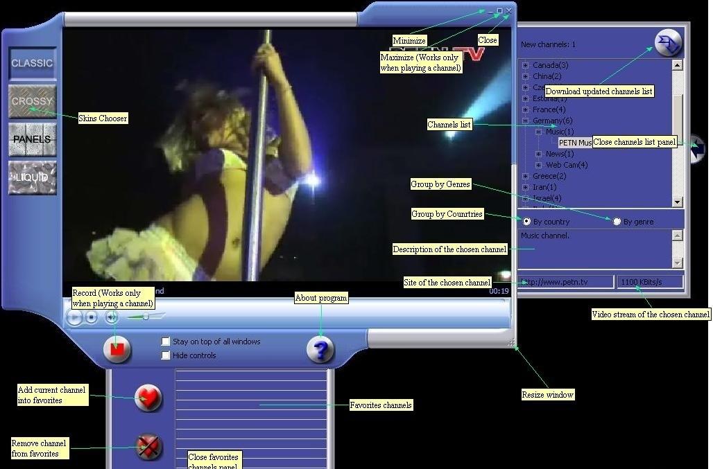 TVTons - online internet TV