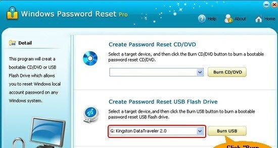 Windows Password Reset Pro aim password reset