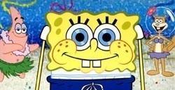 sponge at beach screensaver spongebob