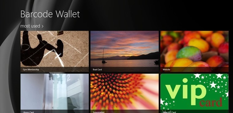 Barcode Wallet for Windows 8