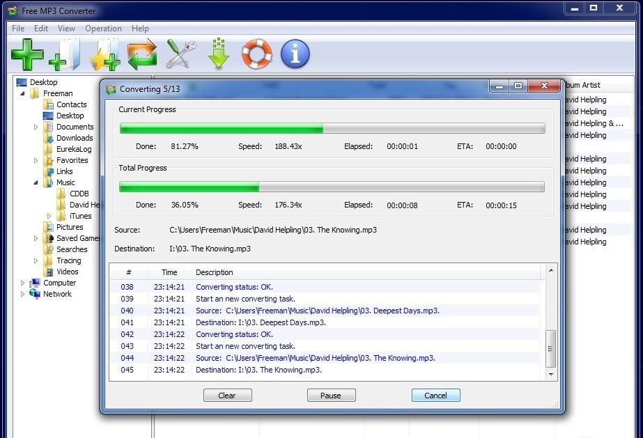 Converter это простой инструмент, который позволяет конвертировать WAV файл