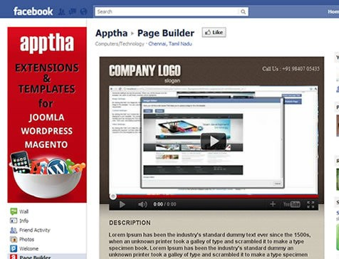 Joomla Facebook Page Builder customized