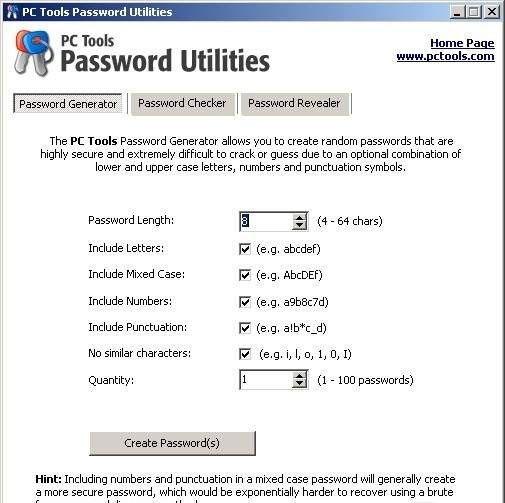 PC Tools Password Utilities alexroot4 imgsrc password