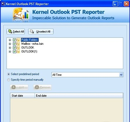 Kernel Outlook PST Reporter