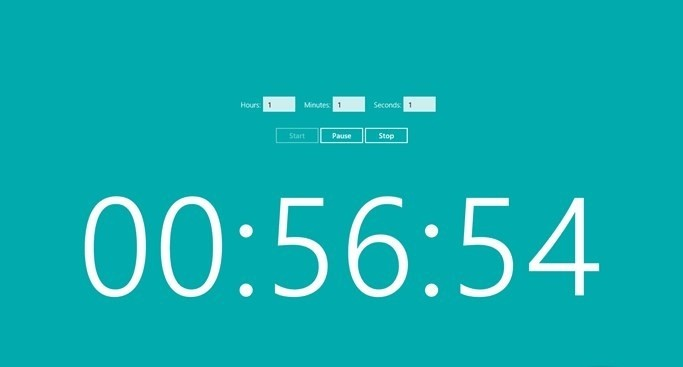 Live Tile Timer for Windows 8
