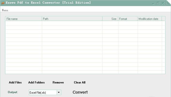 Ezovo Pdf to Excel Converter