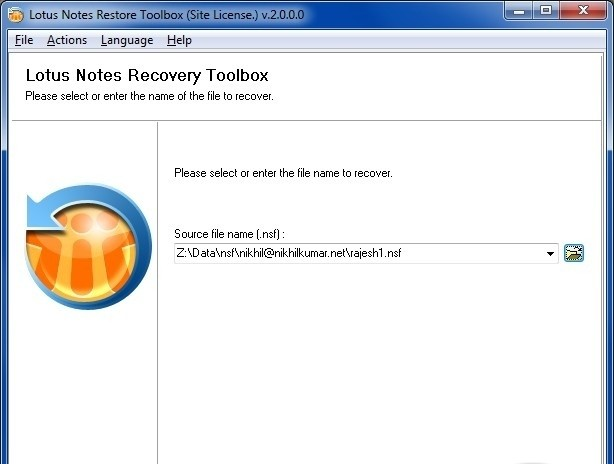 Lotus Notes Restore Toolbox