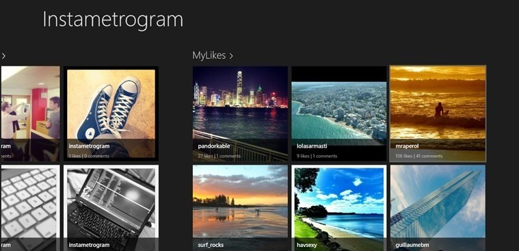 Instametrogram for Windows 8 instagram for java