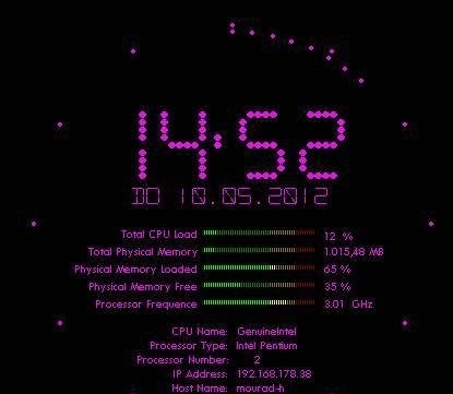Flying Clock Screensaver Pro