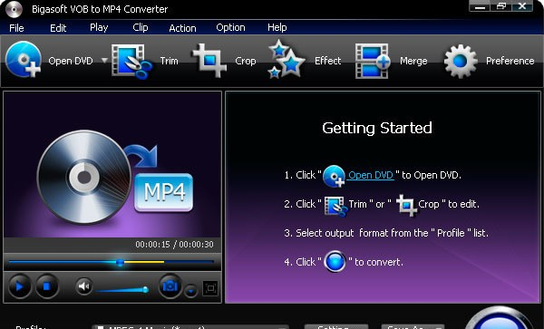 Bigasoft VOB to MP4 Converter