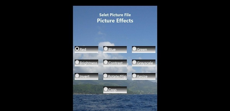 Picture Effects for Windows 8