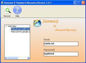 Sanmaxi IE Password Recovery passwords com