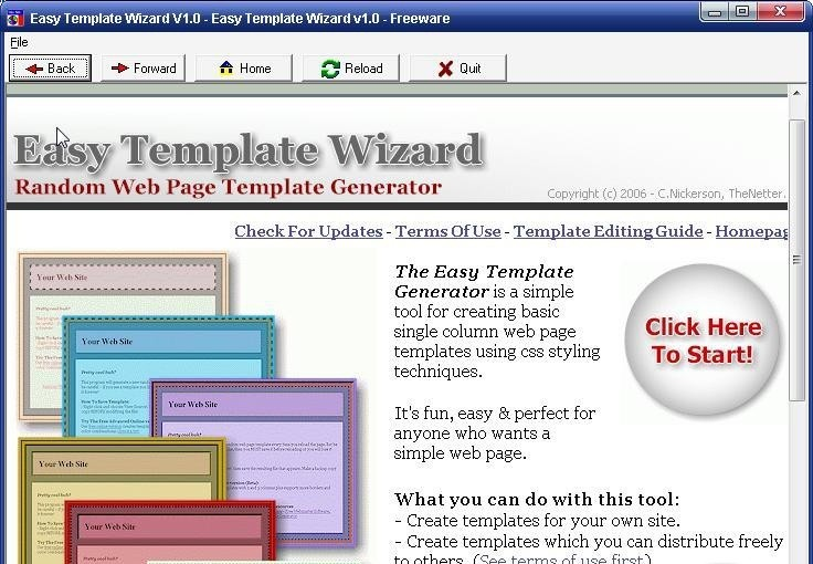 template wizard