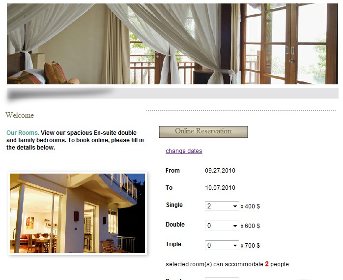 Web-Based Room Booking System