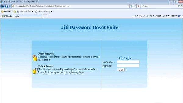 JiJi Help Desk Password Reset