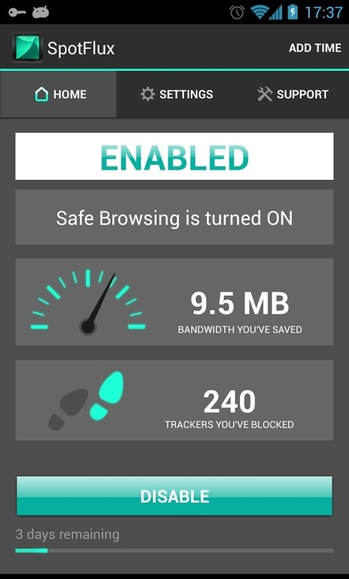 Spotflux Free VPN for Android