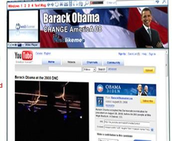 Barack Obama Internet Browser descobrindo o alfabeto